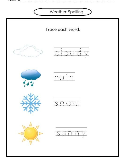 Free Kindergarten Spelling Worksheets
