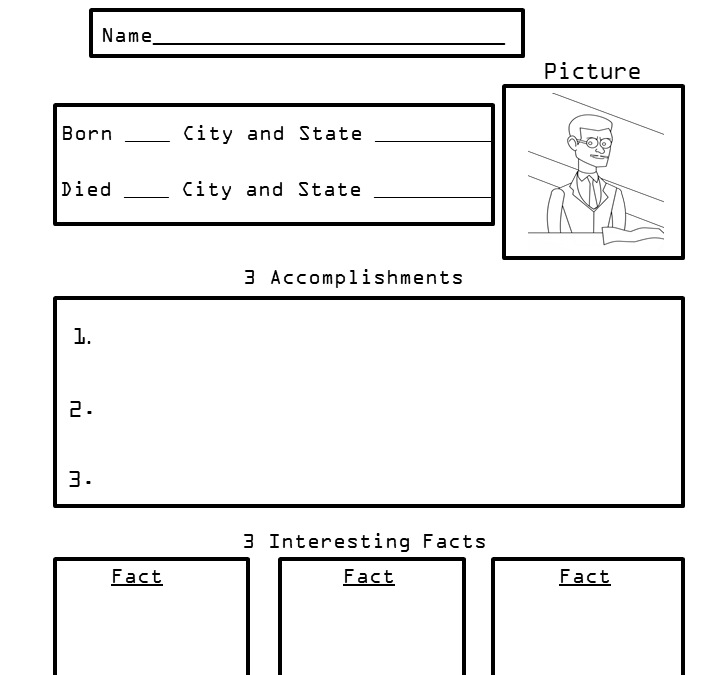 Free Biography Worksheets for Elementary Students