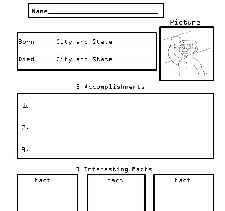 Free Printable Biography Worksheets