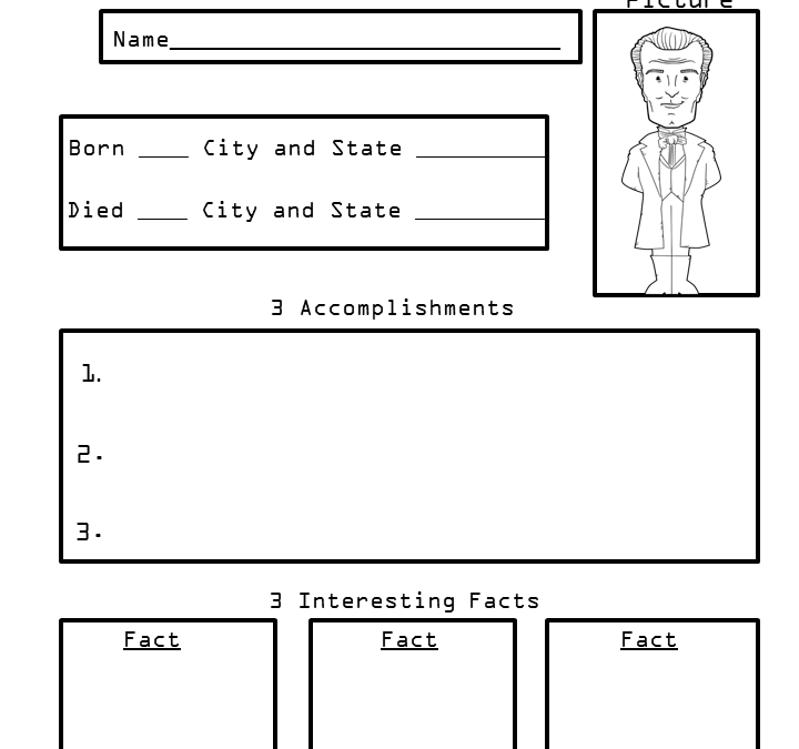 4th Grade Presidents Biography Organizer Worksheets President James Monroe