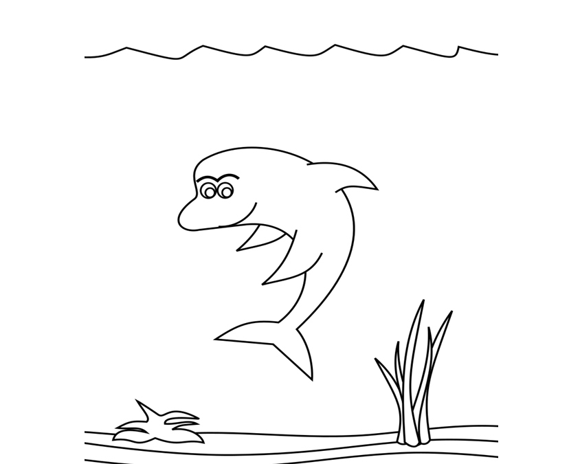 Dolphin Fish Coloring Pages