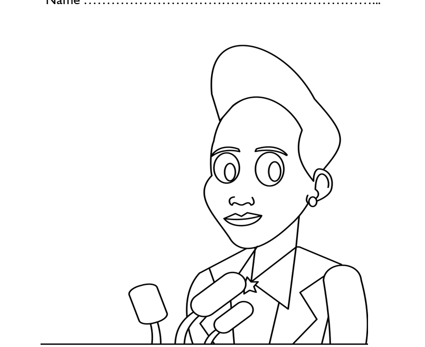 Free Ella Baker Coloring Pages for Kindergarten