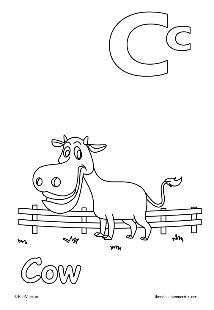 Alphabet Letter C Coloring Pages