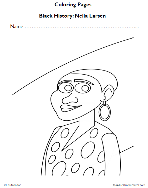 Nella Larsen Coloring Pages for Kids