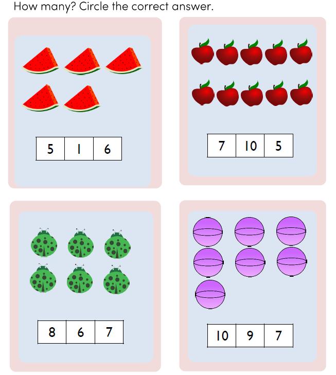 Preschool Math Counting Pdf for Kids