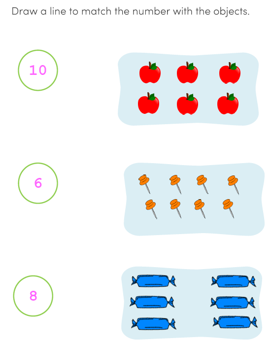 Math Preschool Counting Worksheets for Kids