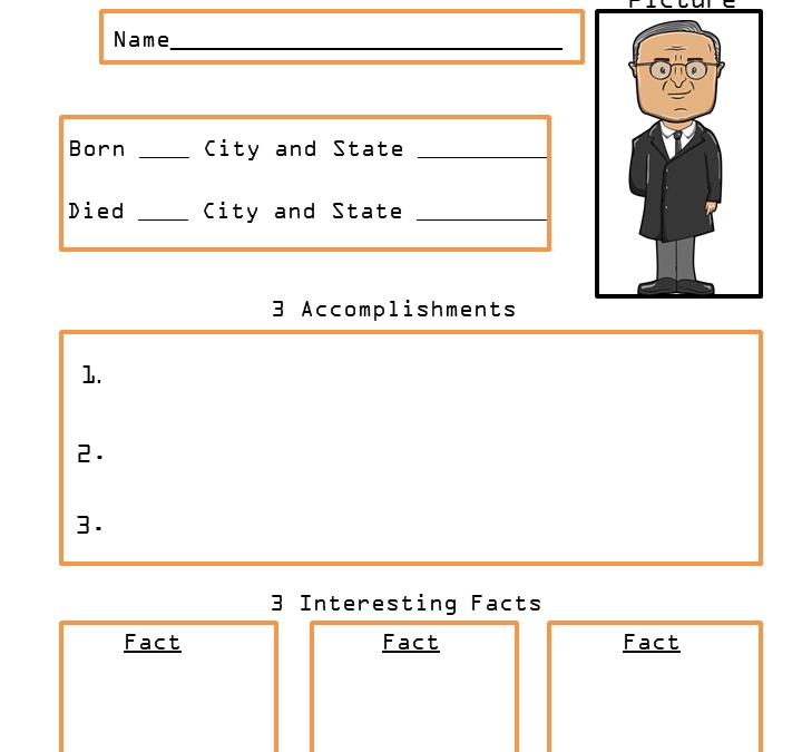 Harry Truman Presidents Biography Printable Worksheet