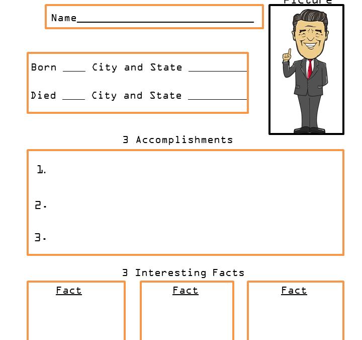 President Ronald Reagan Presidents Biography Worksheets