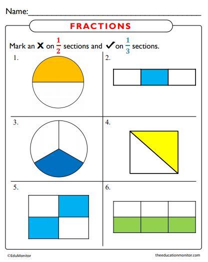 Fractions Worksheets Math pdf